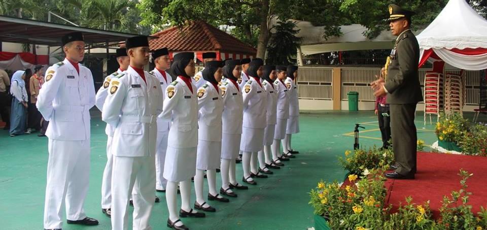 Paskibra dan Pramuka SIKL Warnai Upacara Pengibaran Bendera  HUT-RI