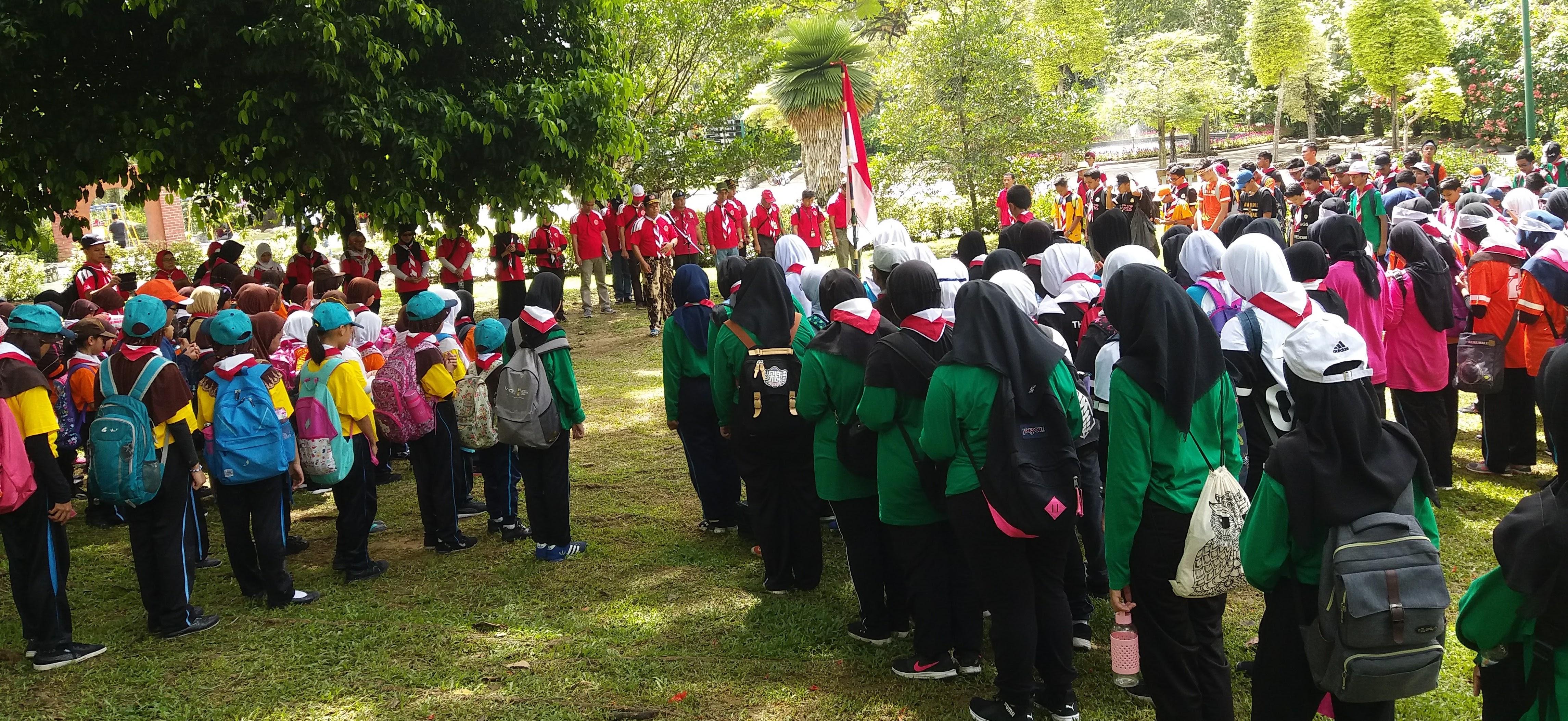 Latgab, Akhiri Pendidikan Kepramukaan Semester Pertama 2017/2018