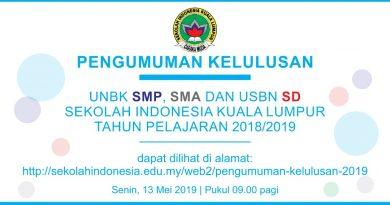 PENGUMUMAN KELULUSAN UNBK SMP – SMA DAN USBN SD 2018/2019
